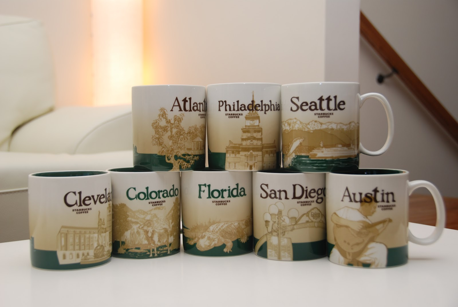 Starbucks City Mugs Usa Global Icons
