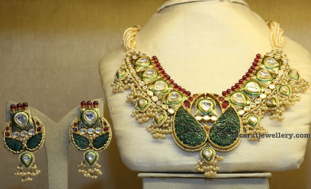 Polki Kundan and Jades Trendy Choker