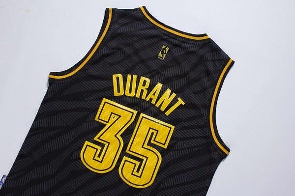 9b21c1daa9d1 ... Mens Oklahoma City Thunder Kevin Durant adidas Black Precious Metals Fashion  Swingman Jersey. unboxingjerseys.