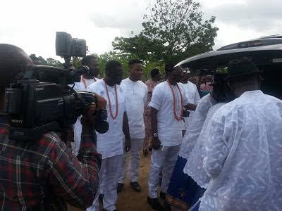 Delta State Governor, Others Present At Bovi's Mother's Burial (Photos)