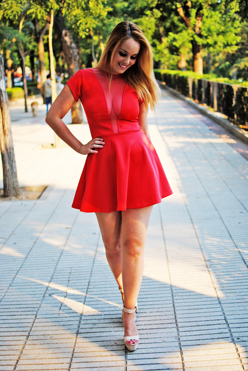 SNB, Nery Hdez, red dress, preska, preska bloggers