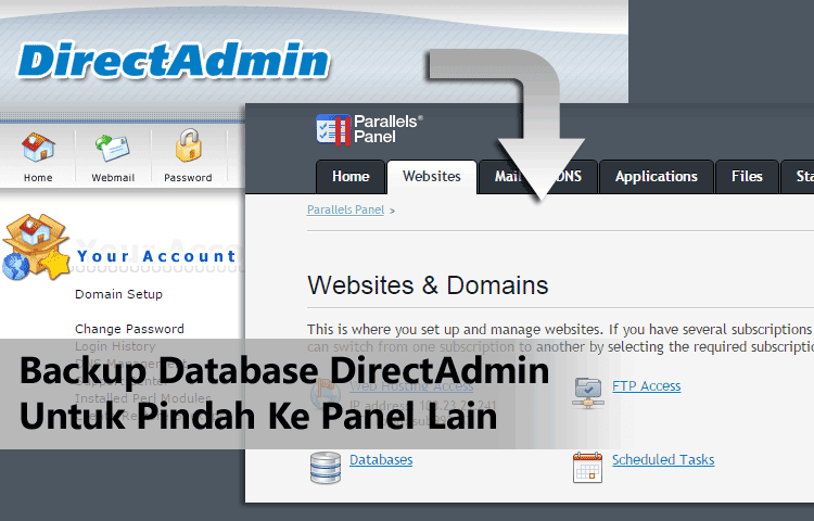 Cara Backup Database Dari DirectAdmin Panel