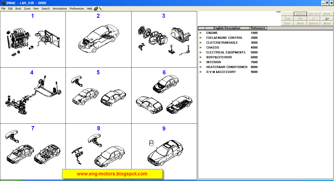 Daewoo Lanos Spare Parts Catalogue Engine Diagram Service Catalog Epc 2006 Replacement