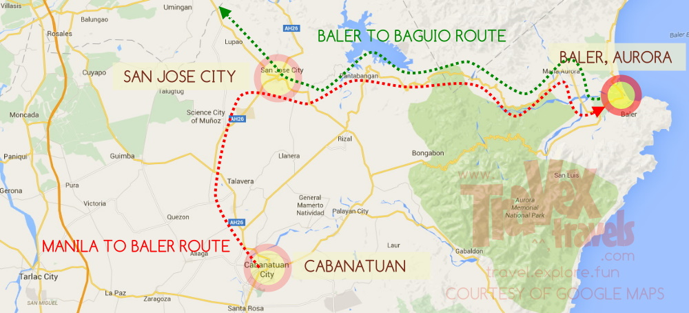 How to Go to Baler Aurora from Manila Baguio Travex Travels