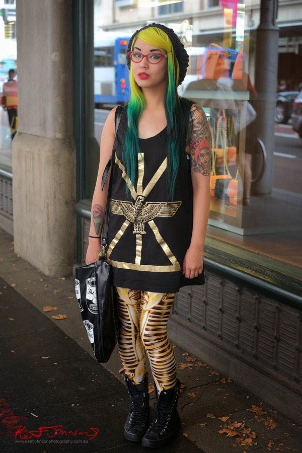 Amelia Arsenic - Boy London & Furr Hair.. at the QVB. Street Fashion Sydney by Kent Johnson.