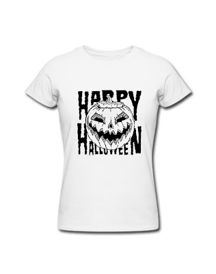 Women T-Shirt Happy Halloween