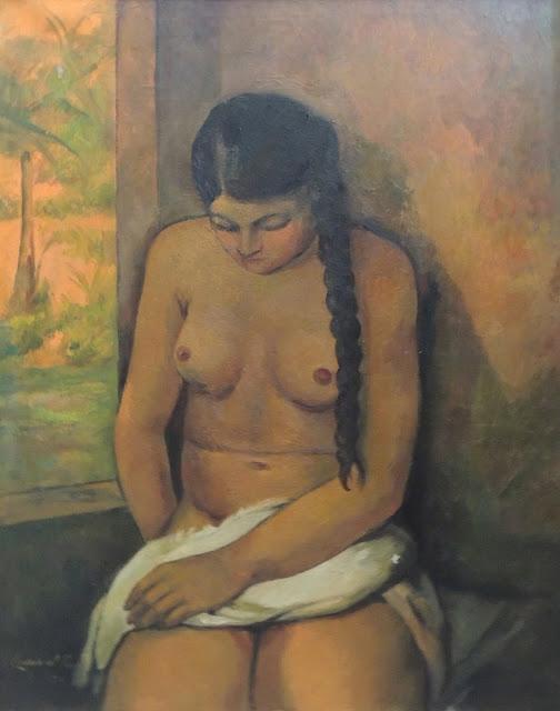 Felipe Cossío del Pomar arte pintura al óleo, desnudo feminino, arte modernista, paul gaugin, mares del sur