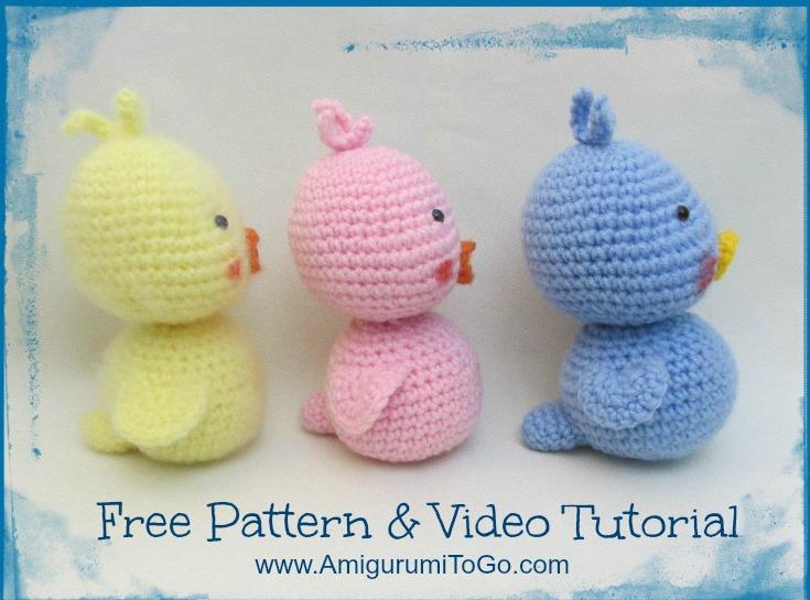 Free Pattern Crochet Duck : Amigurumi Duck Video Tutorial ~ Amigurumi To Go
