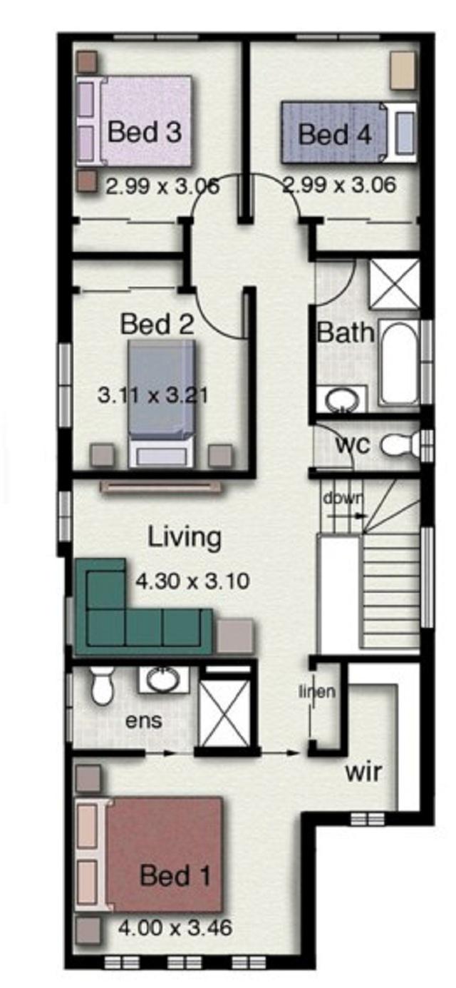 Plano de casa de dos pisos con estilo minimalista planos for Casa minimalista 2 plantas