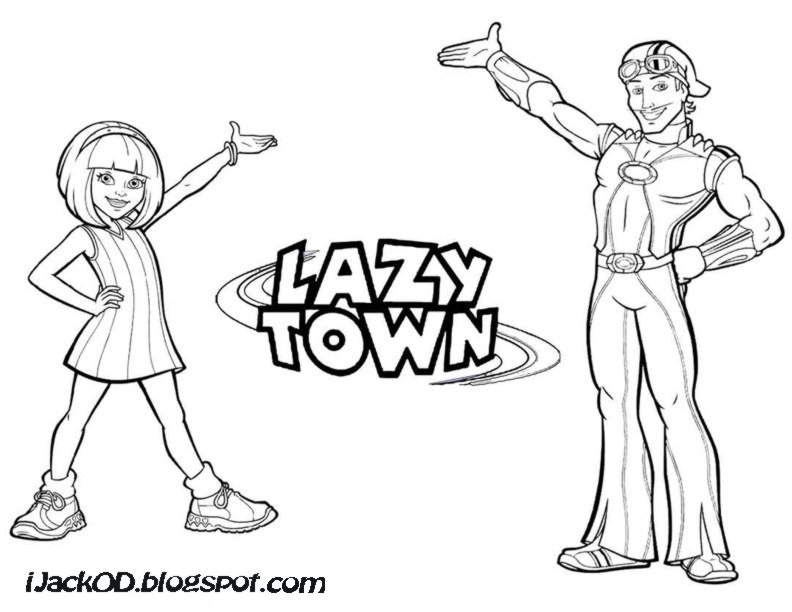 Lazy Town Colouring Pages