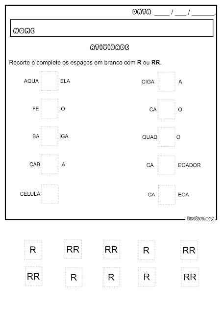 R e RR Atividade Ortografia