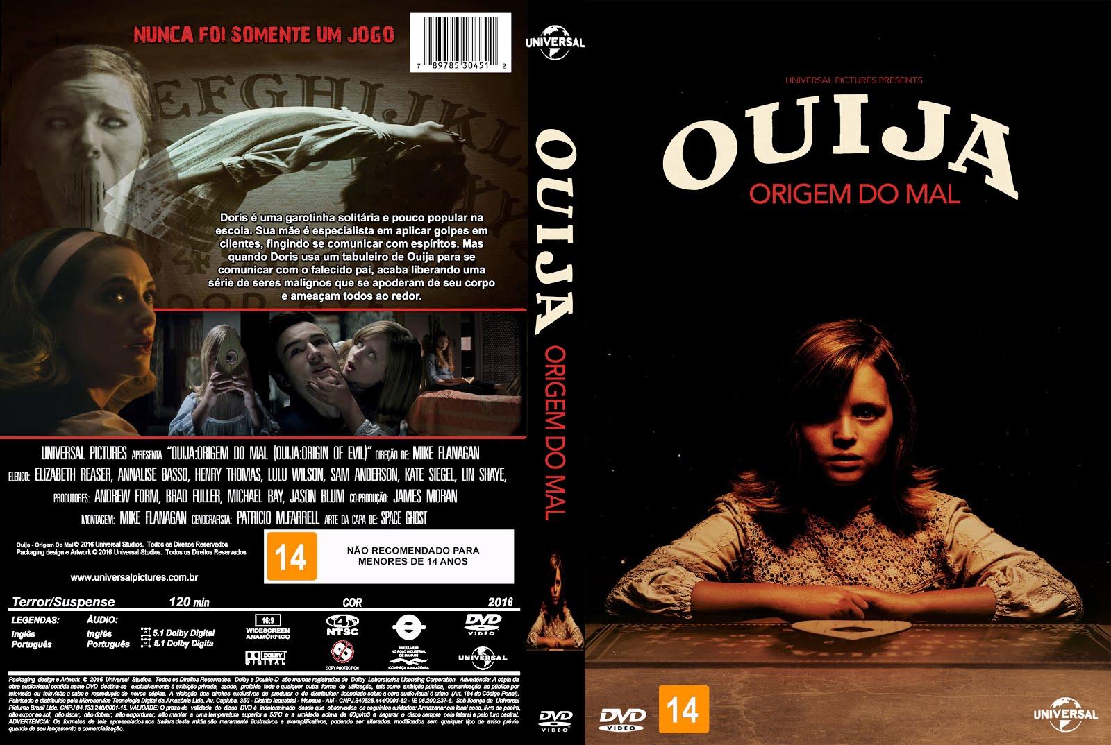 Capa DVD Ouija Origem Do Mal