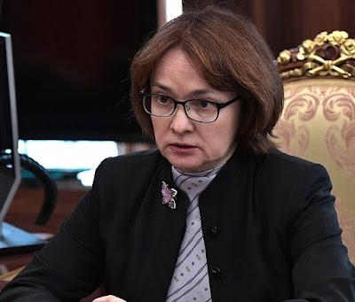 Central Bank Governor Elvira Nabiullina.