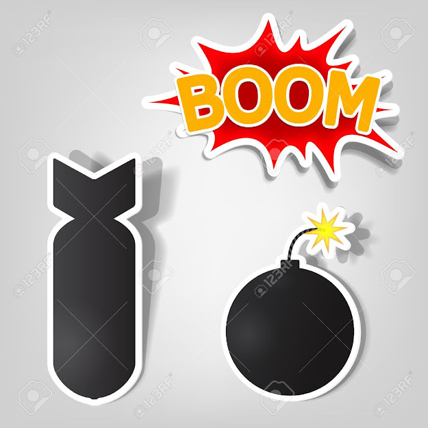 Bomb Vector Bomb And Rocket Stickers Illustration