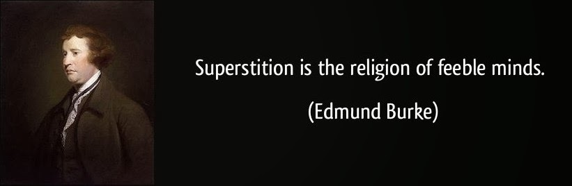 KEEP CALM AND READ ON.: Superstition is foolish, childish, primitive and irrational - but how ...