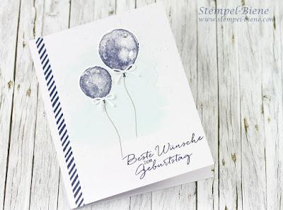 Stampin Up Malersiche Grüße; Stampin' Up Auslaufliste 2016; Stampin' Up Katalog 2016-2017; Stampin' Up Katalog 2017 bestellen; Maritime Geburtstagskarte; Stempel-Biene