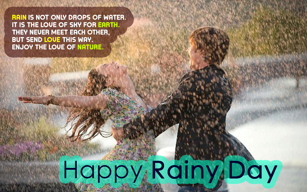 Happy Rain Day in English Messages Collection