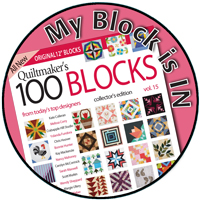 I am a cover girl for Quiltmaker's 100 Blocks volume 15!