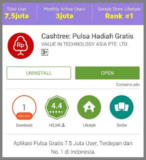 Aplikasi Pulsa Gratis Cashtree
