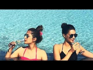 Kriti Sanon sister, Kriti Sanon sister Nupur Sanon, Kriti Sanon sister Nupur Sanon enjoying holidays, Kriti Sanon sister Nupur Sanon Maldives, Nupur Sanon sister Kriti Sanon, Nupur Sanon, Kriti Sanon sister pic,