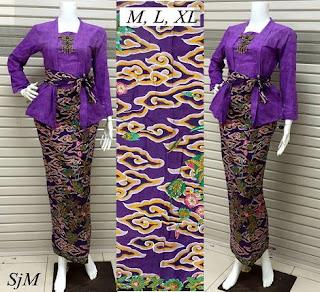 setelan baju gamis batik