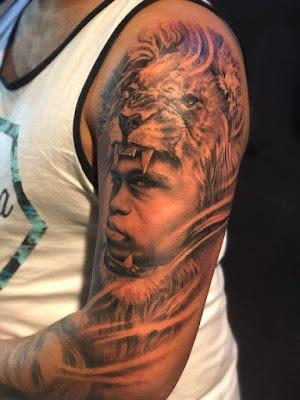 Tatuaje : Rostro del hermano con cabeza de león