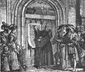 Image result for wittenberg church 95 theses