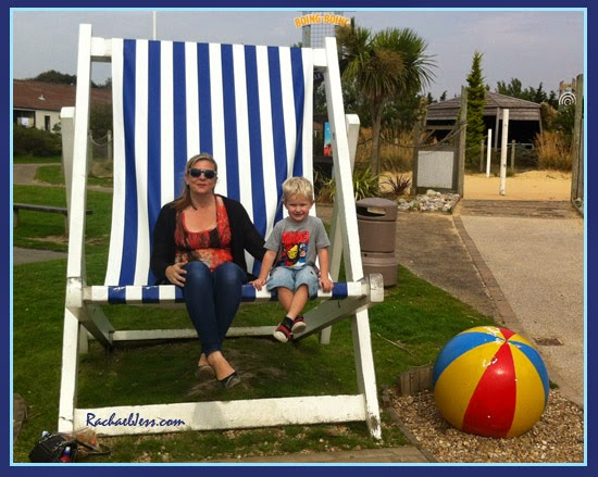 The iconic over-sized deck chairs at Butlins