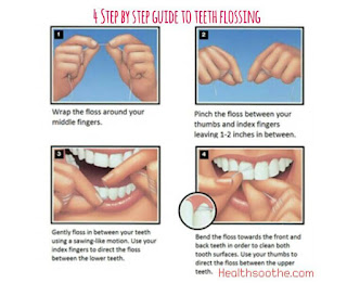 Here are a few tips on the correct flossing technique