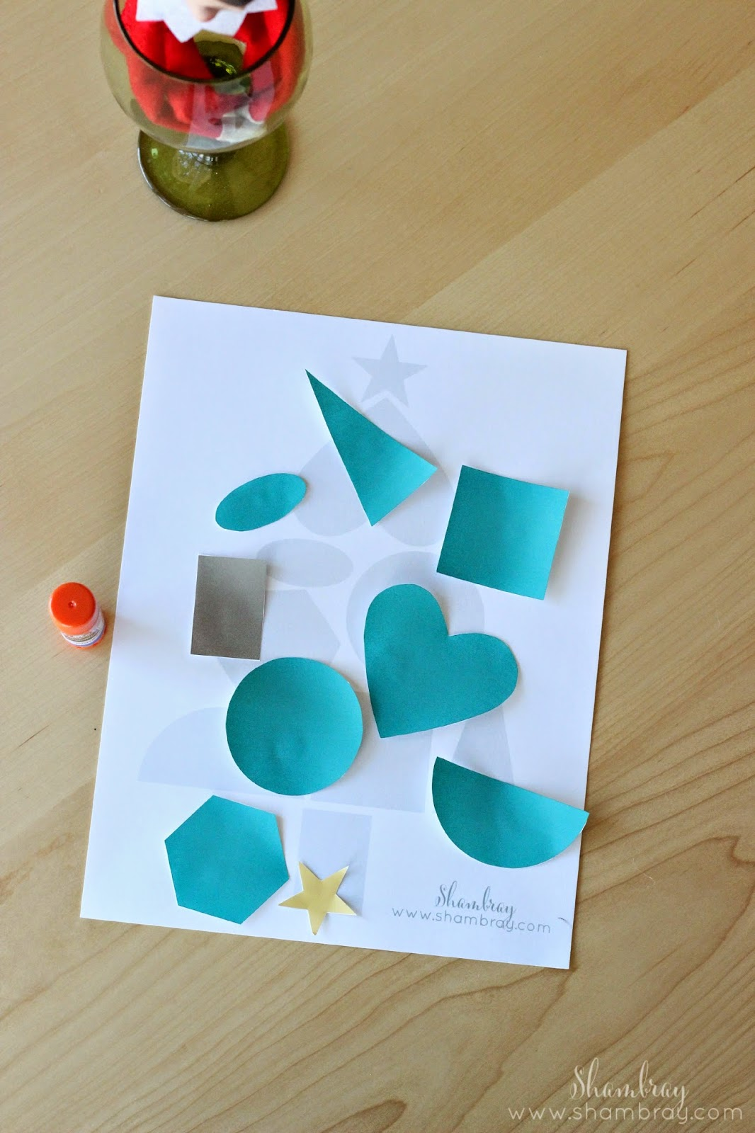 Shambray Shapes Christmas Tree Craft