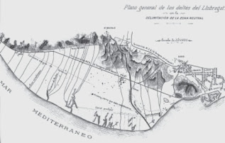 Plano del delta del Llobregat (1899)