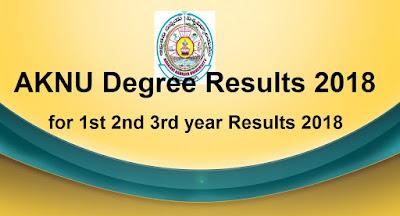 Manabadi AKNU Degree Results 2018, Adikavi Nannaya University Results 2018 Schools9