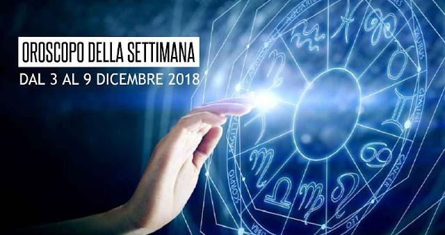 L'OROSCOPO DELLA SETTIMANA DAL 3 AL 9 NOVEMBRE 2018
