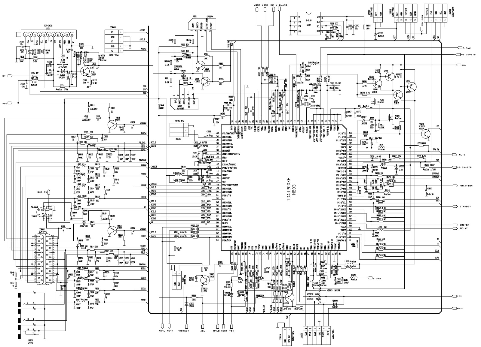 KP29TK207 – Konka 29 inch CRT TV – Circuit diagram – STR-CQ1265RT