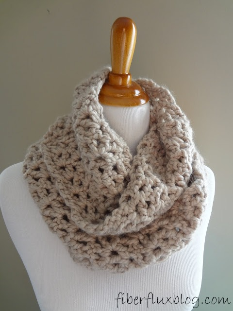 Fiber Flux How To Crochet The Pavement Infinity Scarf Stitch By
