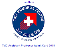 TMC Assistant Professor Admit Card