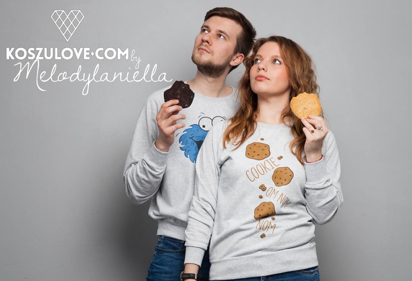 nagłówek bluzy dla par cookie monster koszulove idealne na prezent ubrania miłosc chlopak dziewczyna