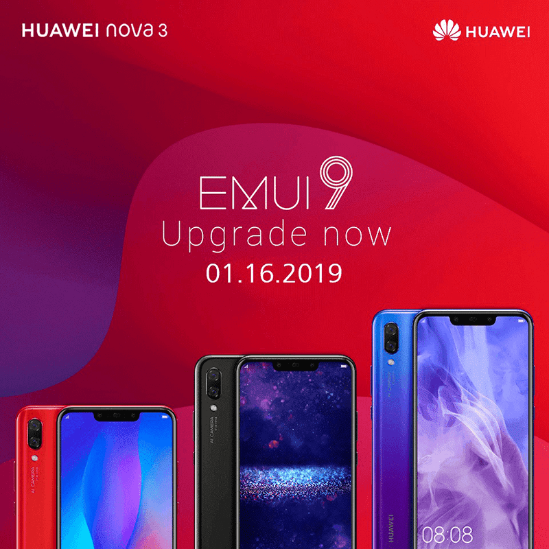 Huawei updates Nova 3 to Android Pie with EMUI 9.0
