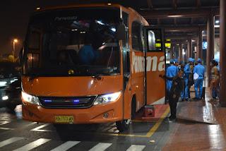 rombongan sampai di Bandara Internasional Soekarno Hatta