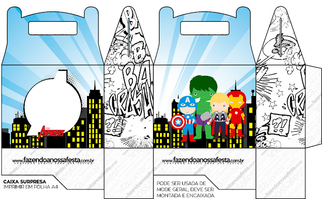 Avengers Chibi Style, Free Printable Lunch Box,