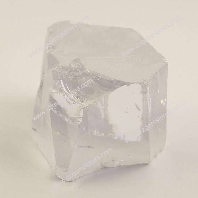 white cubic zirconia rough