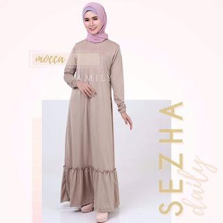 Gamis Amily Sezha Dress Mocca