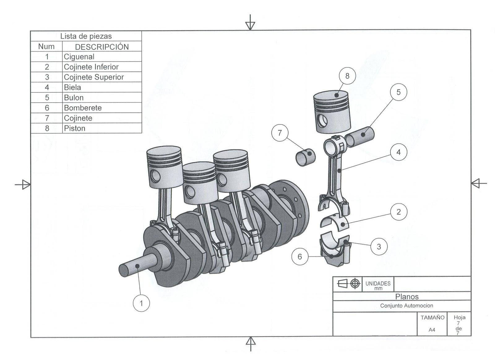 Catia E Inventor Con Ciri Motor 4 Pistones Y Ciguenal
