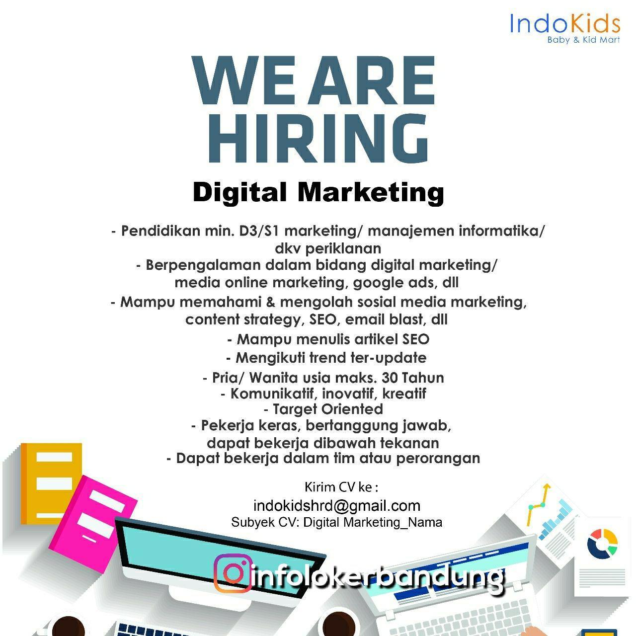 Lowongan Kerja Digital Marketing Indokids Bandung Februari 2018