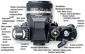 Nikon F//F2 imagen dividida//Pantalla de enfoque de microprisma K