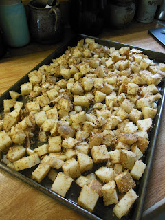 """Dusty"" Potatoes, easy and delicious! Ready for the oven."