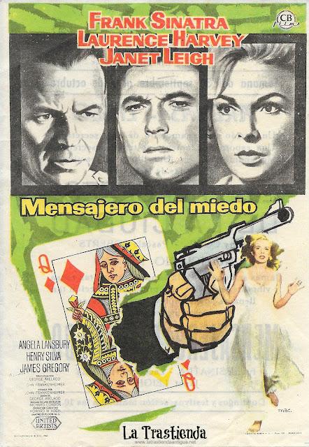 Mensajero del Miedo - Programa de Cine - Frank Sinatra - Janet Leigh - Laurence Harvey