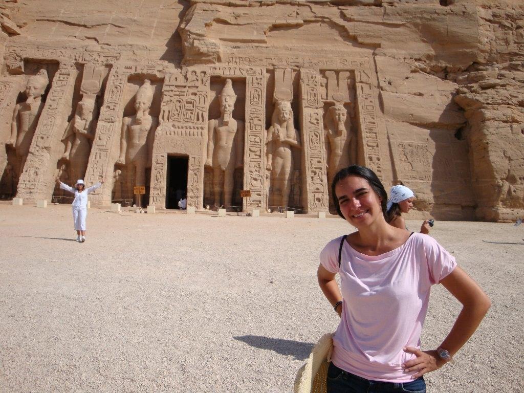 No Templo de Nefertari, em Abu Simbel