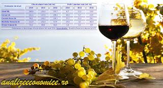 Topul producătorilor de vin după cifra de afaceri și profiturile din 2016