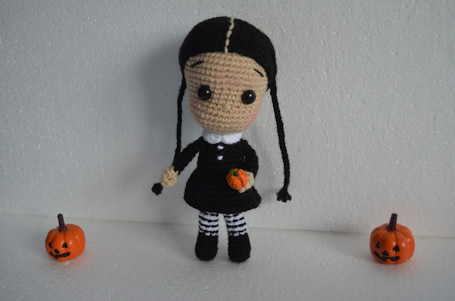 halloween amigurumi crochet ganchillo wednesday adams míercoles adams zero dog ghost
